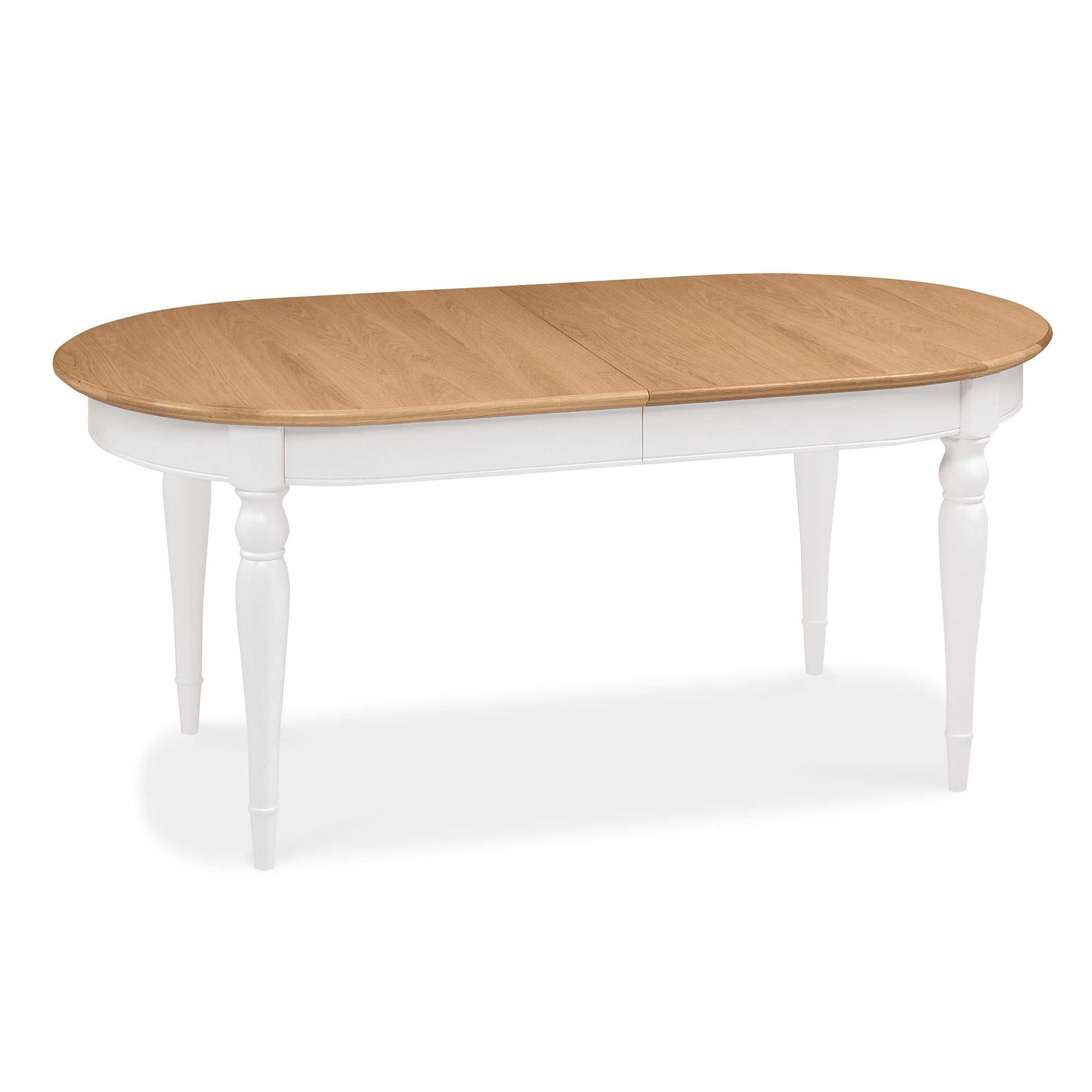 Carrington 6 8 Extending Dining Table, Ivory And Oak Intended For 2018 Grimaldo  (View 10 of 15)