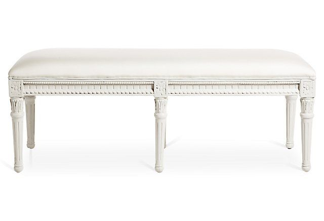Carroll Outdoor Bench, White   One Kings Lane $635 48.75 Inside Best And Newest Sapulpa (View 5 of 15)