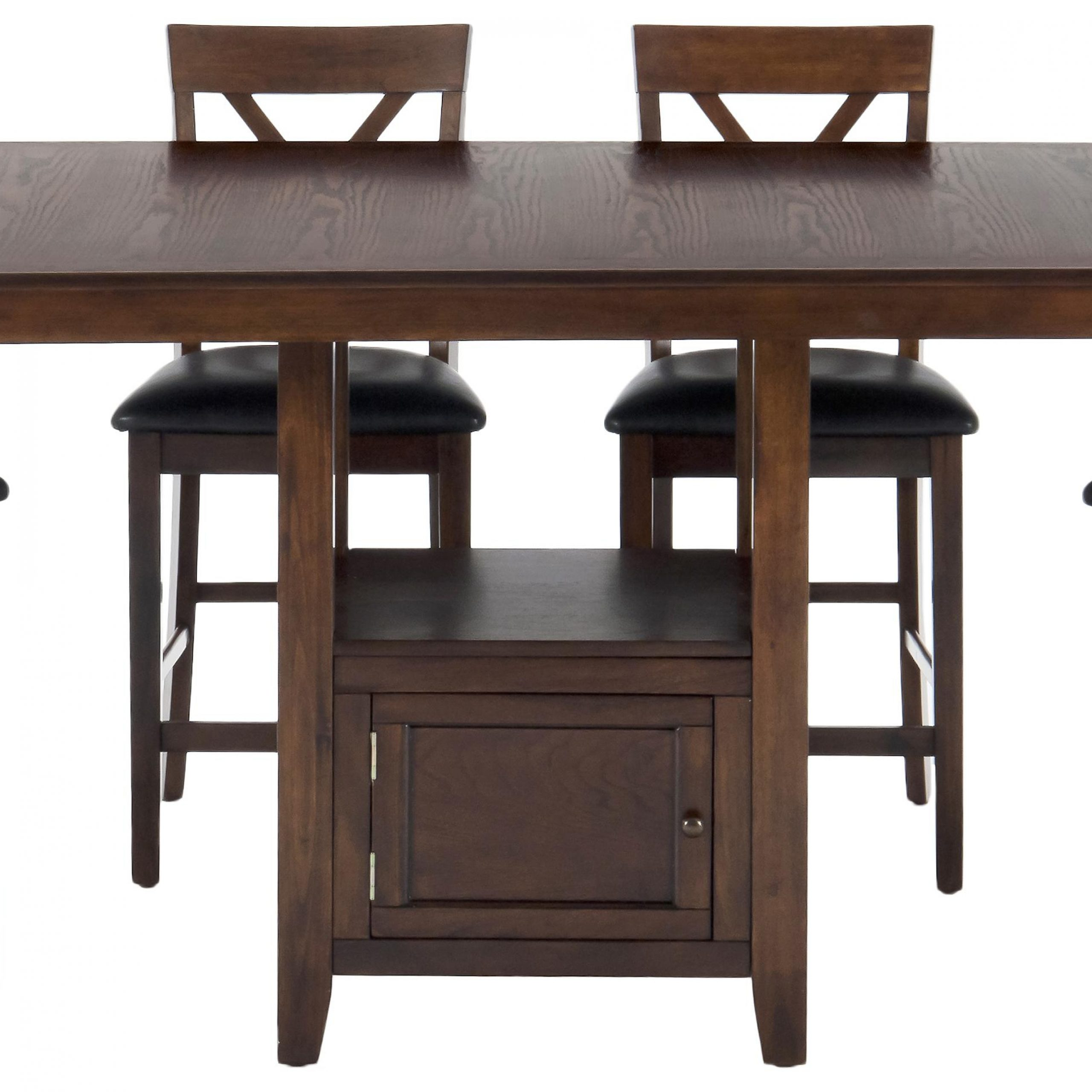 Casual Counter Height Rectangle Table With Storage Inside Best And Newest Charterville Counter Height Pedestal Dining Tables (View 5 of 15)
