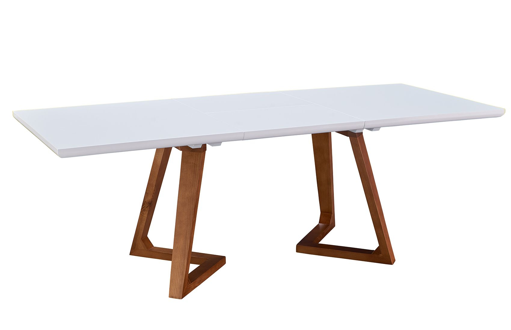 """Chantal Ultra Modern 63"""" – 87"""" Dining Table, High Gloss With Recent Bekasi 63'' Dining Tables (View 2 of 15)"""