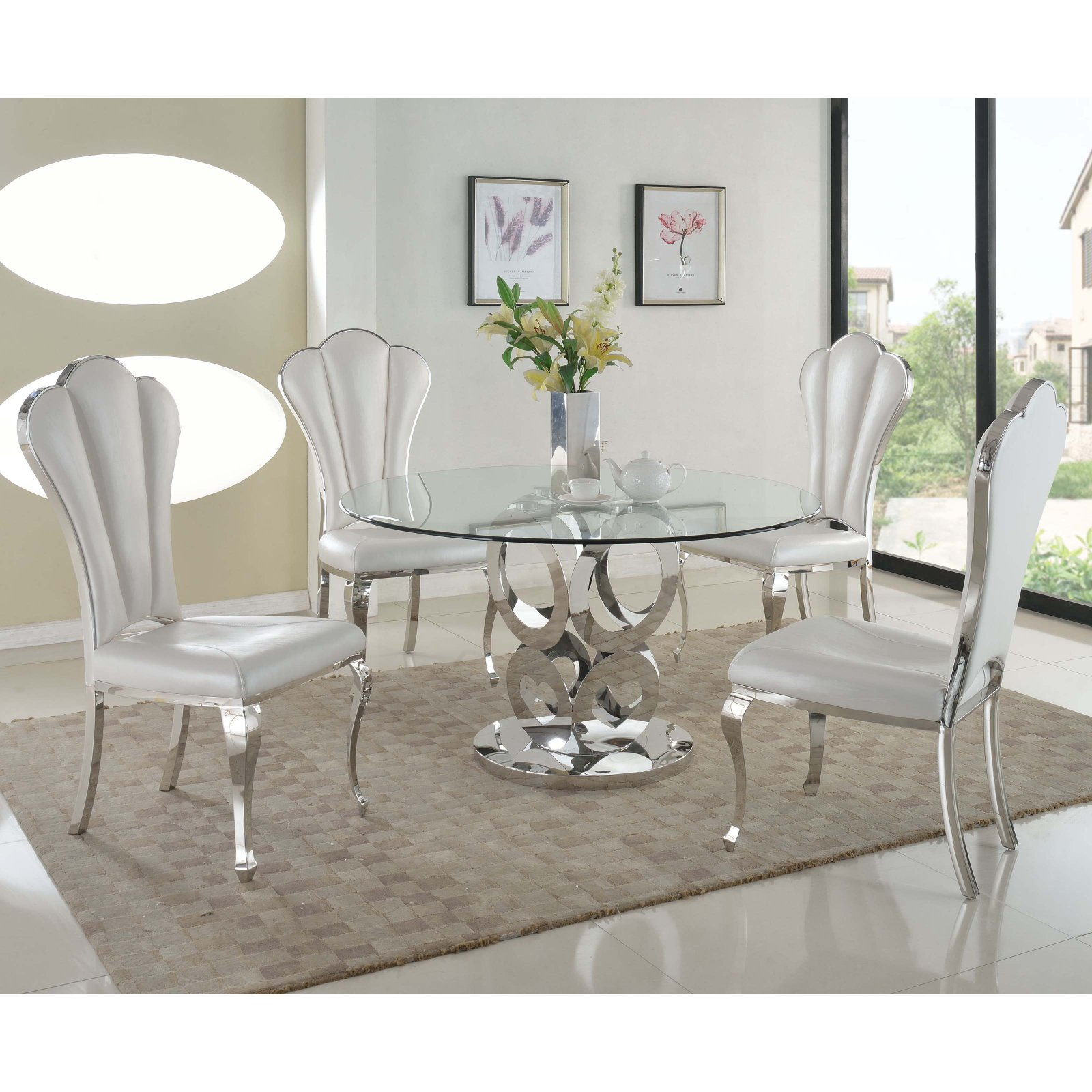 Chintaly Raegan 5 Piece Dining Table Set – Walmart For 2018 Steven 39'' Dining Tables (View 8 of 15)