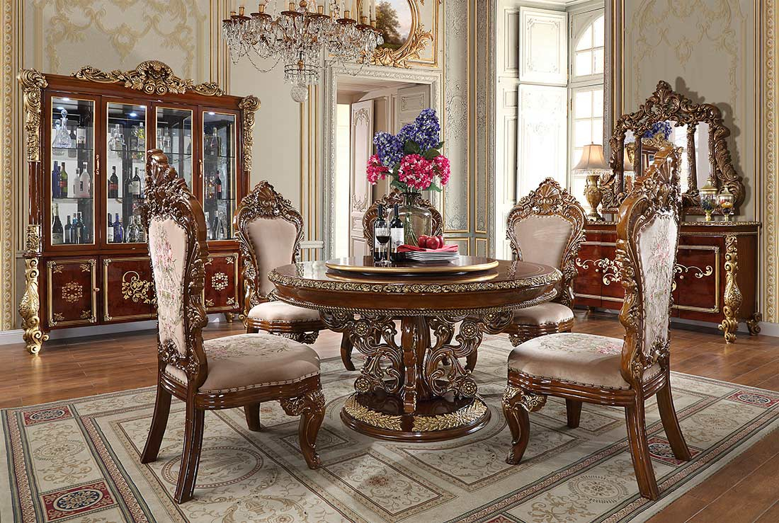 Classic Round Dining Table Hd 03 | Classic Dining With Regard To Most Recent Classic Dining Tables (View 8 of 15)