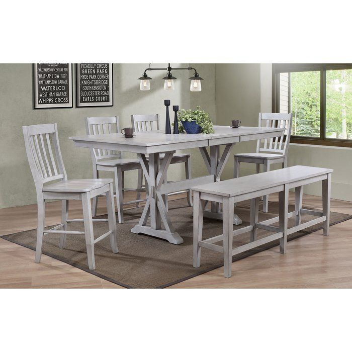 Clennell 6 Piece Pub Table Set | Pub Table Sets, Home With Regard To Latest Clennell  (View 7 of 15)