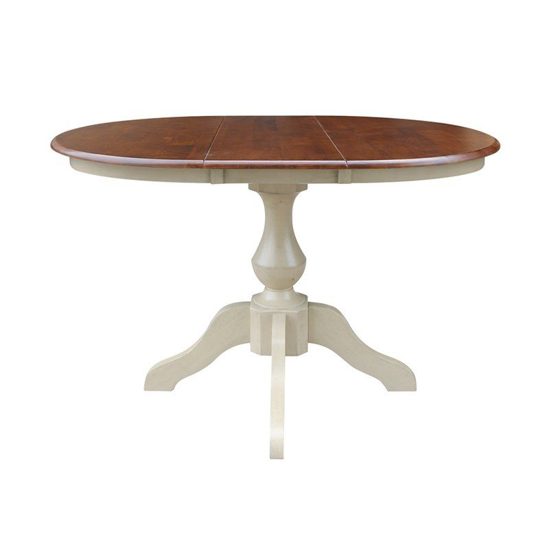 Clippercover Extendable Solid Wood Rubberwood Dining Table Within 2018 Rubberwood Solid Wood Pedestal Dining Tables (View 7 of 15)
