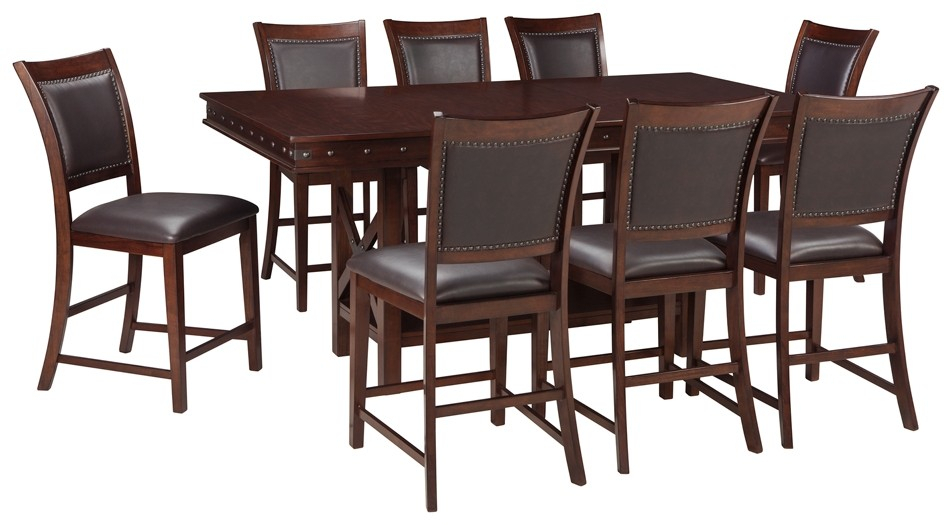 Collenburg – Counter Height Dining Table And 8 Barstools Regarding 2018 Cainsville 32'' Dining Tables (View 5 of 15)