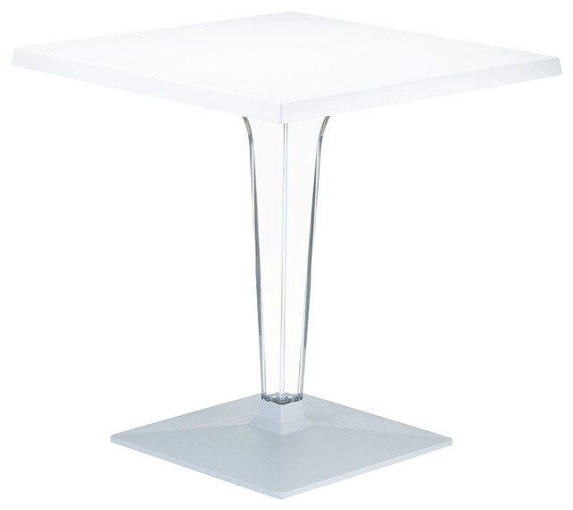 """Compamia Ice Square Dining Table, 23.6"""" – Contemporary Inside Recent Anzum (View 9 of 15)"""