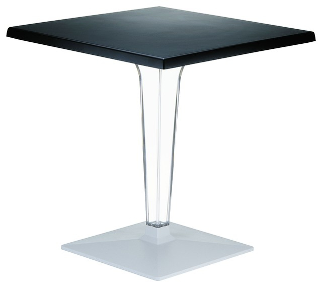 """Compamia Ice Square Dining Table, 23.6"""" – Contemporary With Most Popular Crilly  (View 3 of 15)"""