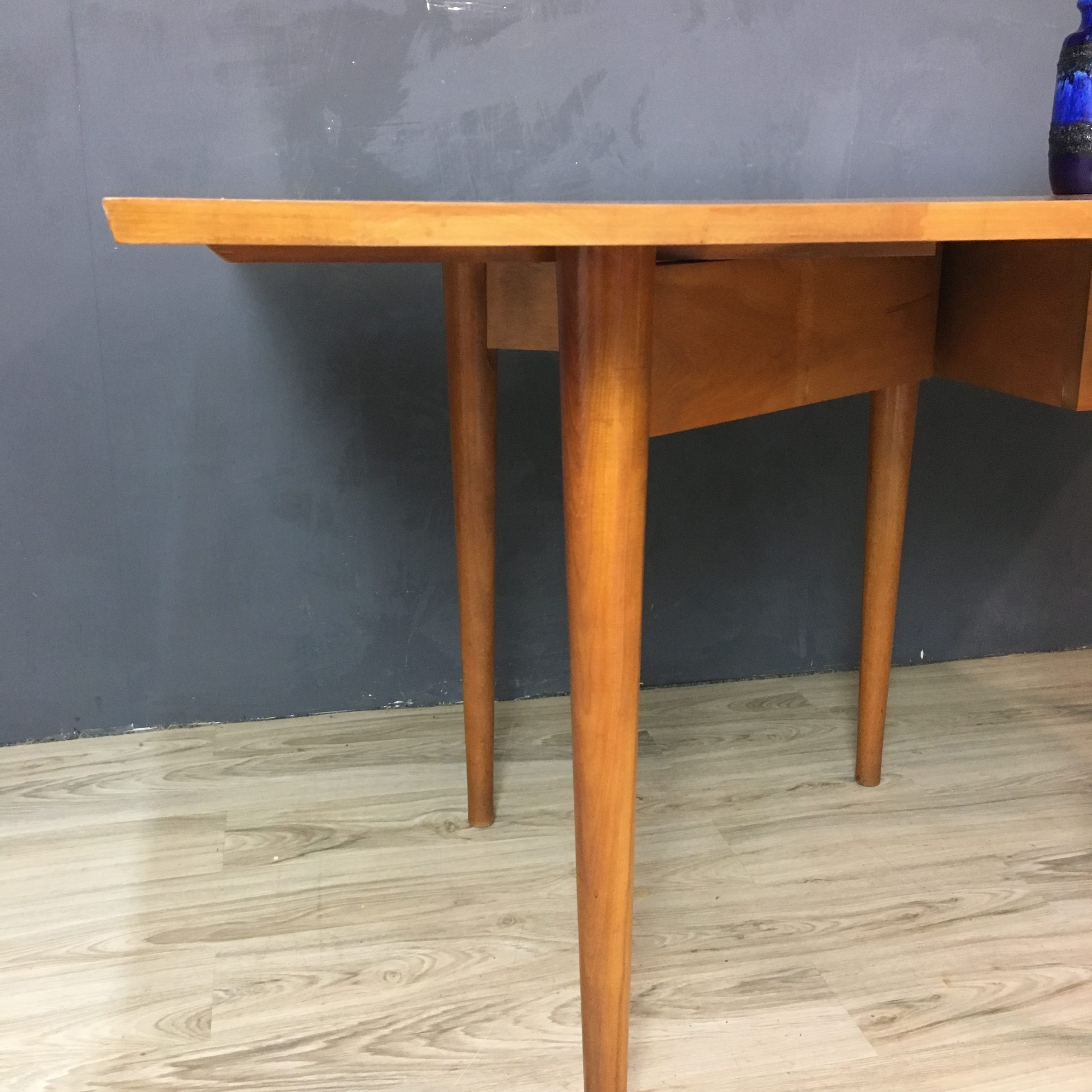 Conant Ball Maple Drop Leaf Dining Table – Retrocraft In Best And Newest Geneve Maple Solid Wood Pedestal Dining Tables (View 9 of 15)