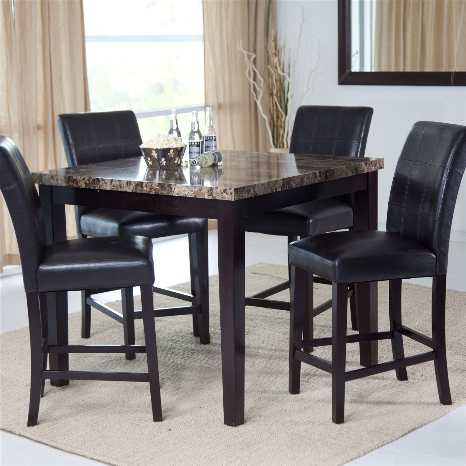 Contemporary 42 X 42 Inch Counter Height Dining Table With Pertaining To Current Counter Height Dining Tables (View 13 of 15)
