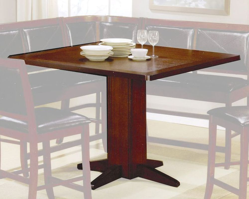 Contemporary Counter Height Dining Table In Dark Brown Within Most Popular Abby Bar Height Dining Tables (View 11 of 15)