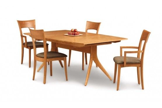 Copeland Furniture : Natural Hardwood Furniture From In Current Aulbrey Butterfly Leaf Teak Solid Wood Trestle Dining Tables (View 2 of 15)