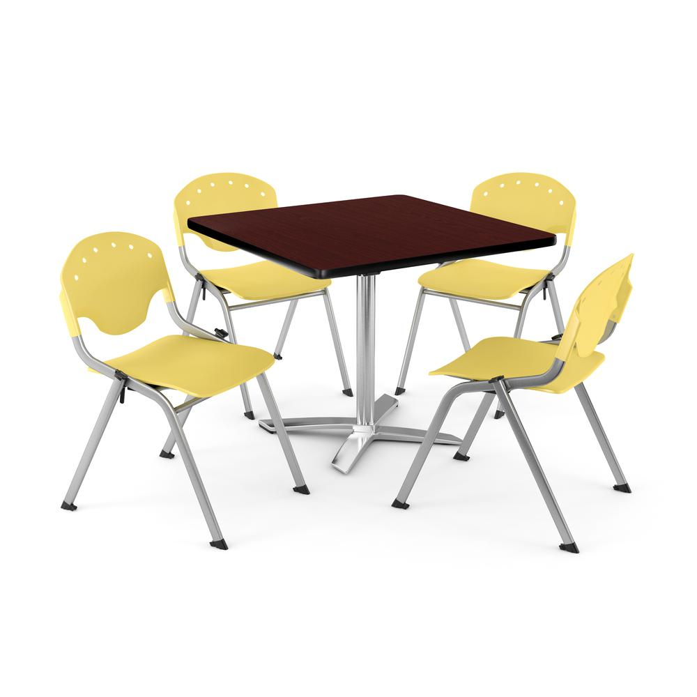 """Core Collection Breakroom Bundle, 42"""" Square Multi Purpose Throughout Current Mode Square Breakroom Tables (View 15 of 15)"""