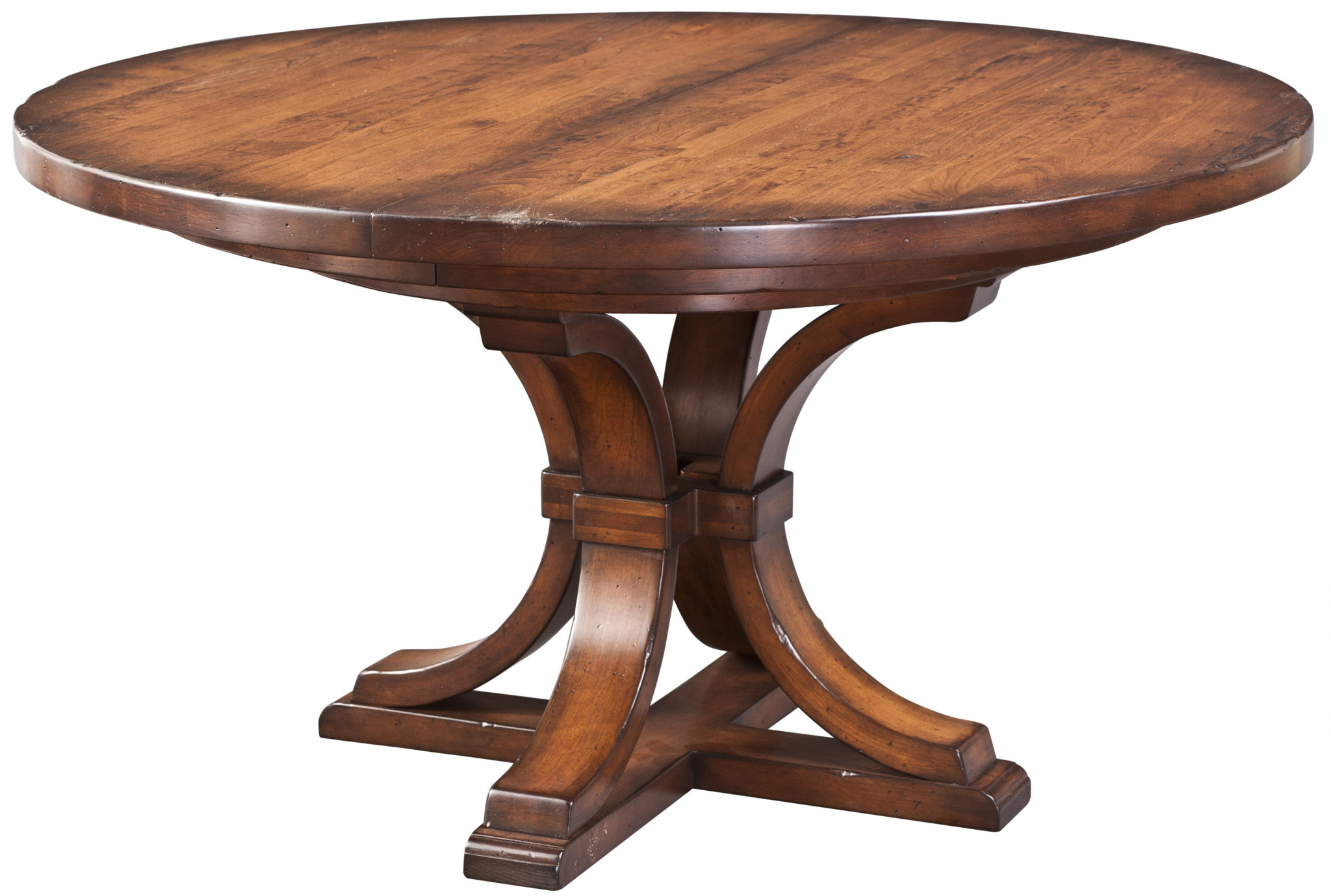Corona Single Pedestal Table | Martin'S Furniture Inside Most Current Gaspard Extendable Maple Solid Wood Pedestal Dining Tables (View 6 of 15)
