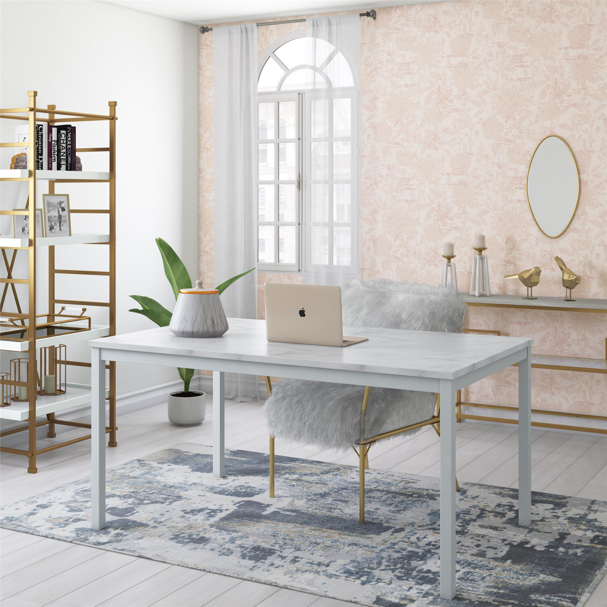 """Cosmoliving Greta 60"""" Dining Room Table And Home Office For Most Popular Tudor City 28'' Dining Tables (Photo 8 of 15)"""