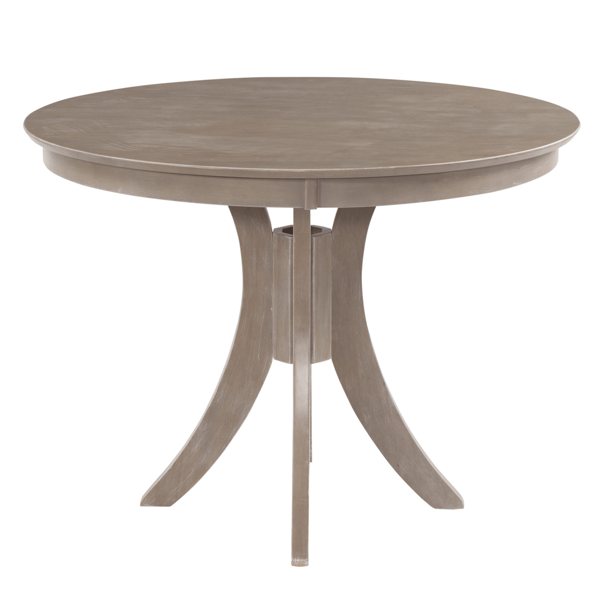 Cosmopolitan Weathered Grey Dining Room Pedestal Table 48 Intended For 2018 Montauk 36'' Dining Tables (View 4 of 15)