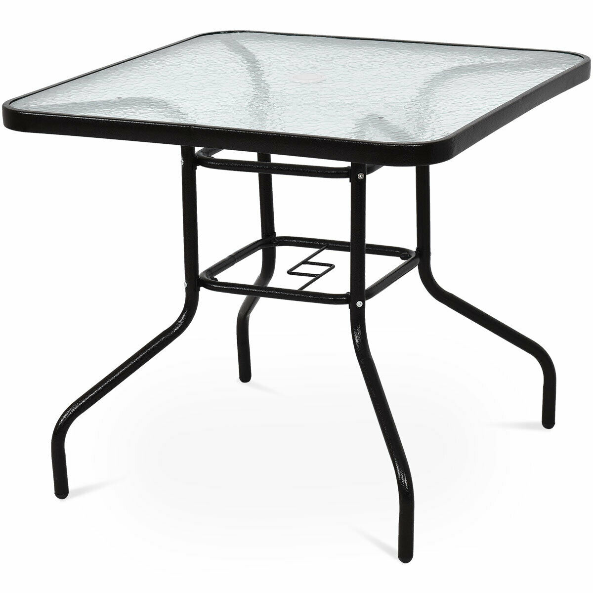 Costway 32'' Patio Square Table Steel Frame Dining Table Within 2018 Cainsville 32'' Dining Tables (View 6 of 15)