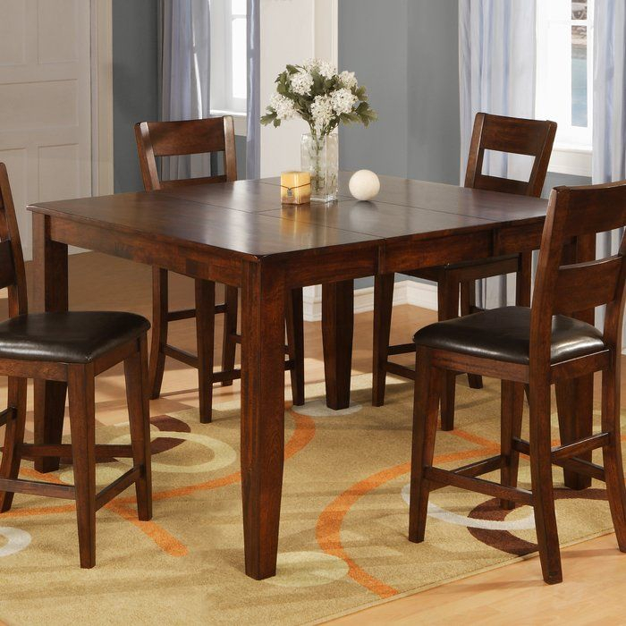 Counter Height Dining Table | Counter Height Dining Table In Most Up To Date Carelton 36'' Mango Solid Wood Trestle Dining Tables (Photo 10 of 15)