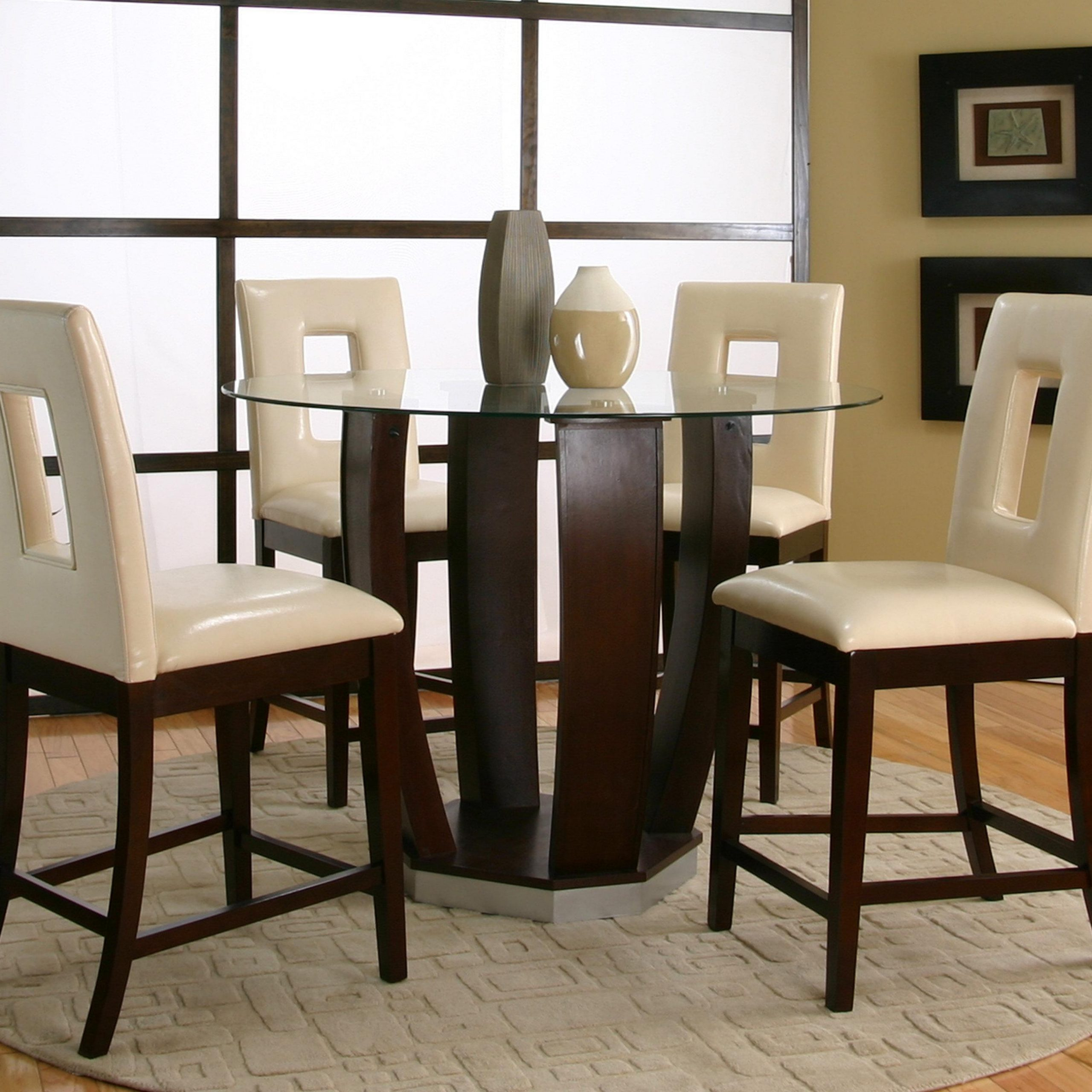 Cramco, Inc Contemporary Design – Emerson Tempered Glass In Latest 49'' Dining Tables (View 6 of 15)