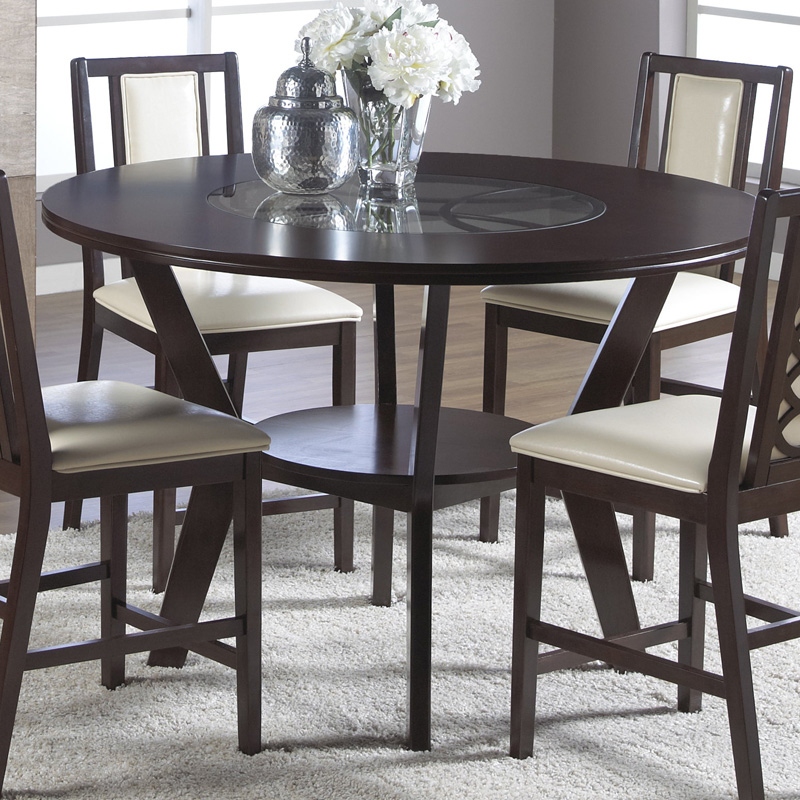 Cramco Jasmyn Round Counter Height Dining Table – Umber In Latest Mciver Counter Height Dining Tables (View 2 of 15)