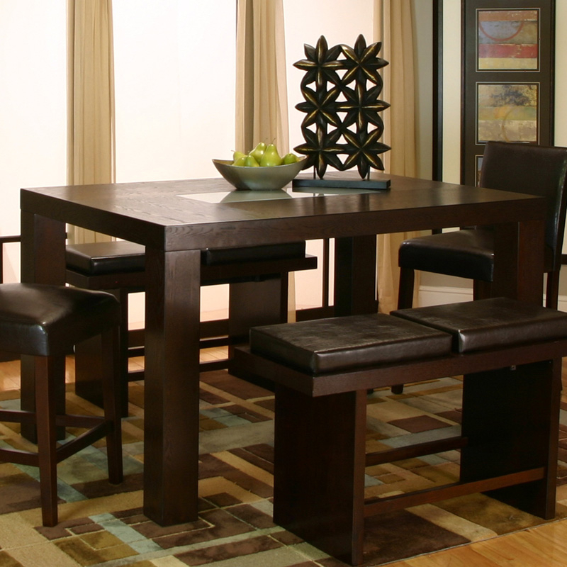 Cramco Kemper Rectangular Counter Height Dining Table With Regard To Newest Romriell Bar Height Trestle Dining Tables (View 2 of 15)