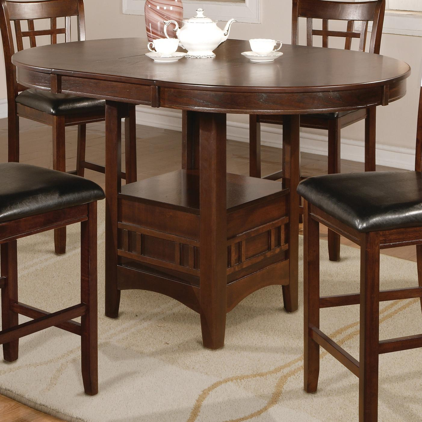 Crown Mark Hartwell 2795T 4260 Single Pedestal Counter Regarding Best And Newest Barra Bar Height Pedestal Dining Tables (View 14 of 15)