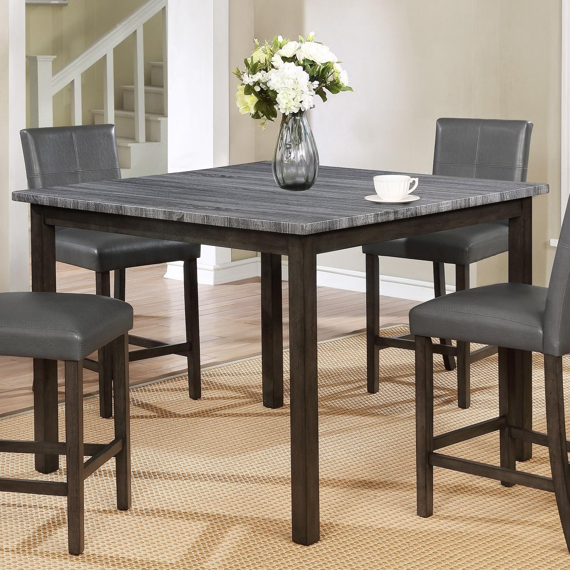 Crown Mark Pompei Two Tone Counter Height Dining Table With Most Recent Mciver Counter Height Dining Tables (View 5 of 15)