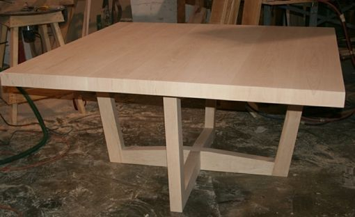 Custom Made Natural Maple Pedestal Table | Pedestal Table Intended For Most Current Geneve Maple Solid Wood Pedestal Dining Tables (View 8 of 15)