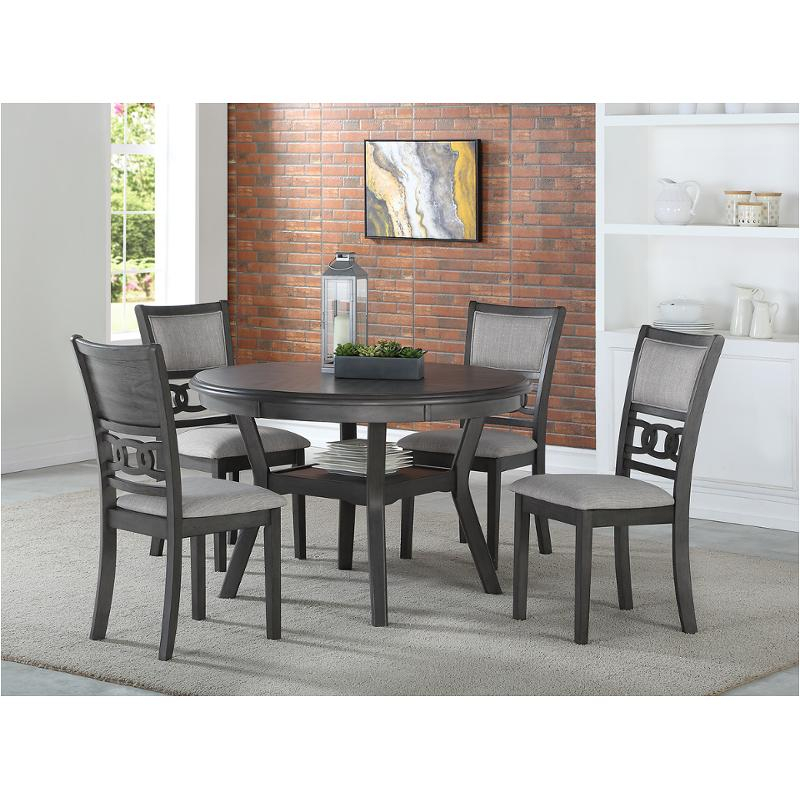 D1701 50S Gry New Classic Furniture Gia Dining Table In Most Up To Date Classic Dining Tables (View 14 of 15)