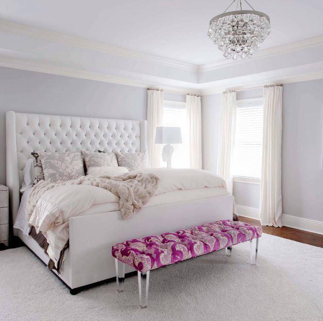 Светлый Интерьер Спальни | White Bedroom Decor, Bedroom With Regard To Most Popular Drexler  (View 14 of 14)