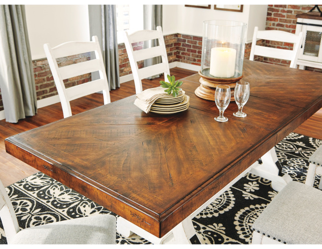 D546 35 Valebeck Rectangular Dining Room Table With Regard To Recent Genao 35'' Dining Tables (View 2 of 15)