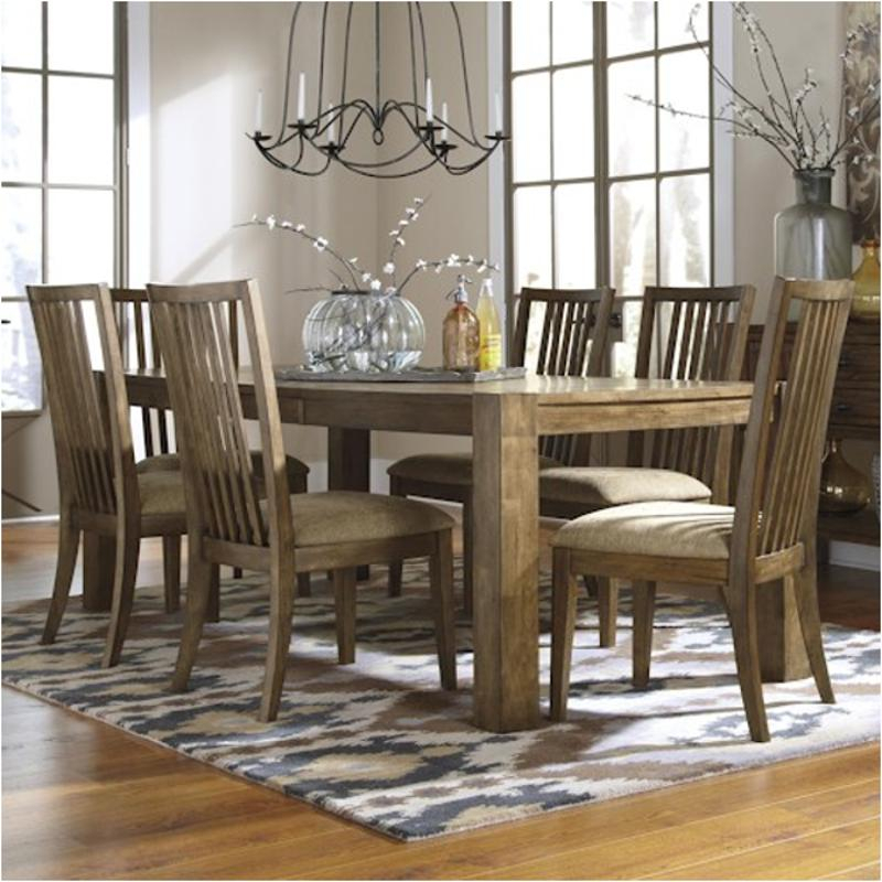 D585 35 Ashley Furniture Birnalla – Light Brown Dining Table Within 2017 Adejah 35'' Dining Tables (View 5 of 15)