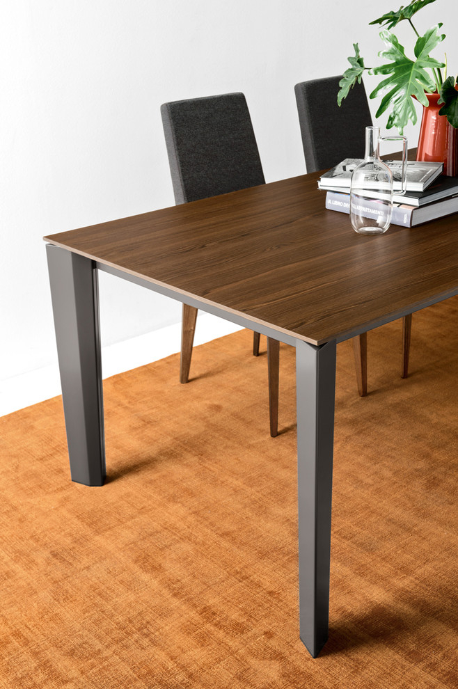 """Delta Extending Table – 70 X 39"""" – Smoke Wood Top + Matte Within Recent Gorla 39'' Dining Tables (View 3 of 15)"""