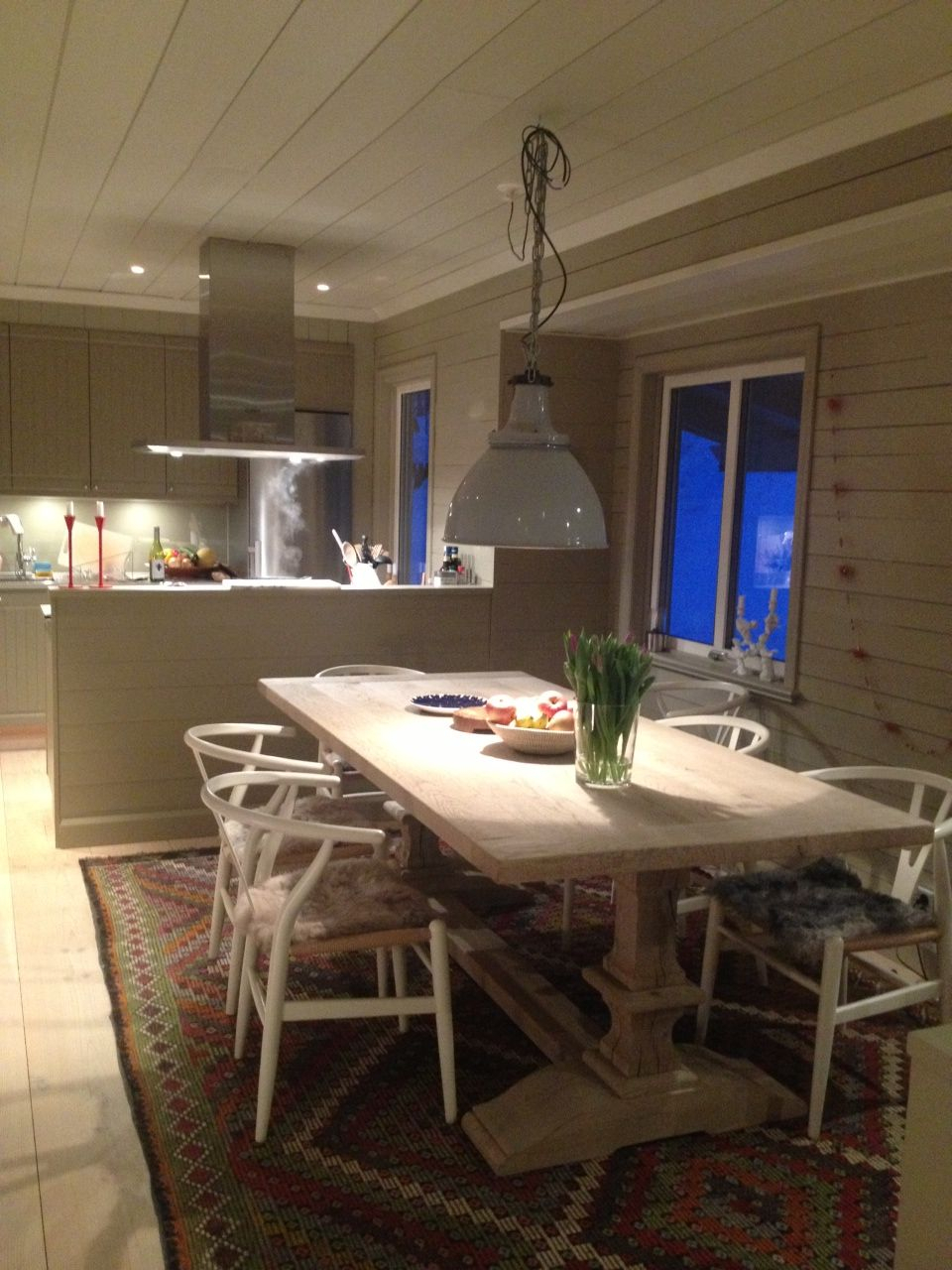 Desiree Oak Dining Table With White Ypsilon Chairs With Regard To 2018 Desiree (View 4 of 15)