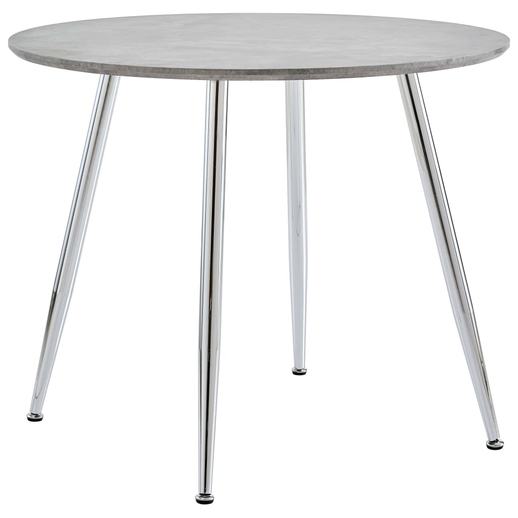"""Dining Table Concrete And Silver 35.4""""X28.9"""" Mdf 