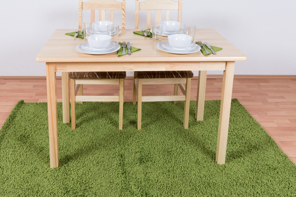 Dining Table Junco 228C, Solid Pine Wood, Clear Finish For Most Popular Febe Pine Solid Wood Dining Tables (View 13 of 15)