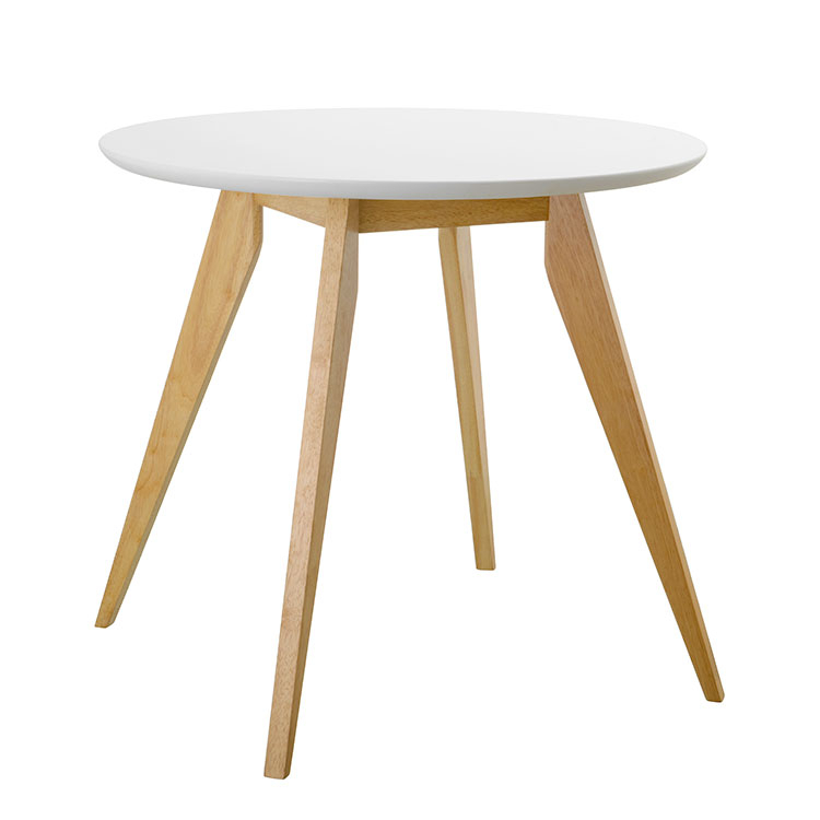 Dining Table, Round, White, 80Cm – Styla With Regard To Recent Yaritza (View 4 of 15)