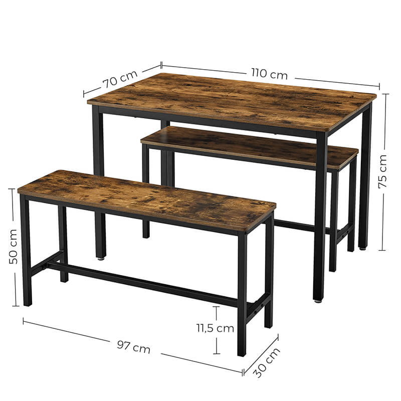 Dining Table Set For Sale|Wholesale Furniture Supplier|Vasagle With Most Recently Released Conerly  (View 4 of 15)