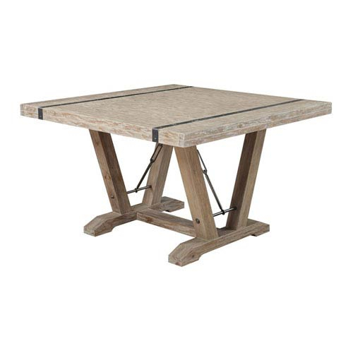 Distressed Wood Dining Table | Bellacor Regarding Most Current Babbie Butterfly Leaf Pine Solid Wood Trestle Dining Tables (View 6 of 15)