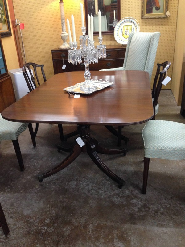 Double Pedestal Dining Table • The Architectural Warehouse Regarding Most Recent Villani Pedestal Dining Tables (View 13 of 15)