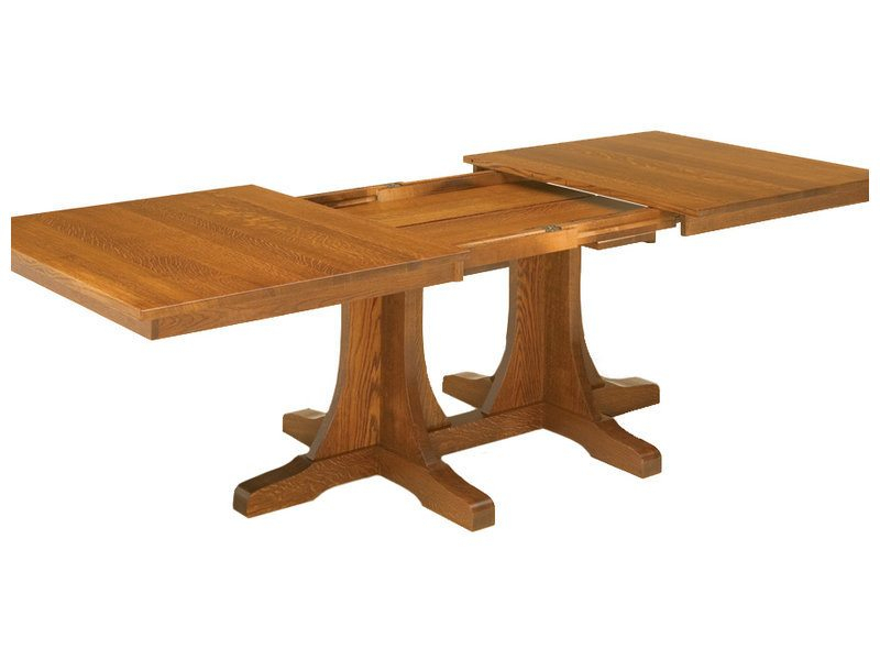 Double Pedestal Mission Dining Table | Mission Double For Newest 47'' Pedestal Dining Tables (View 10 of 15)