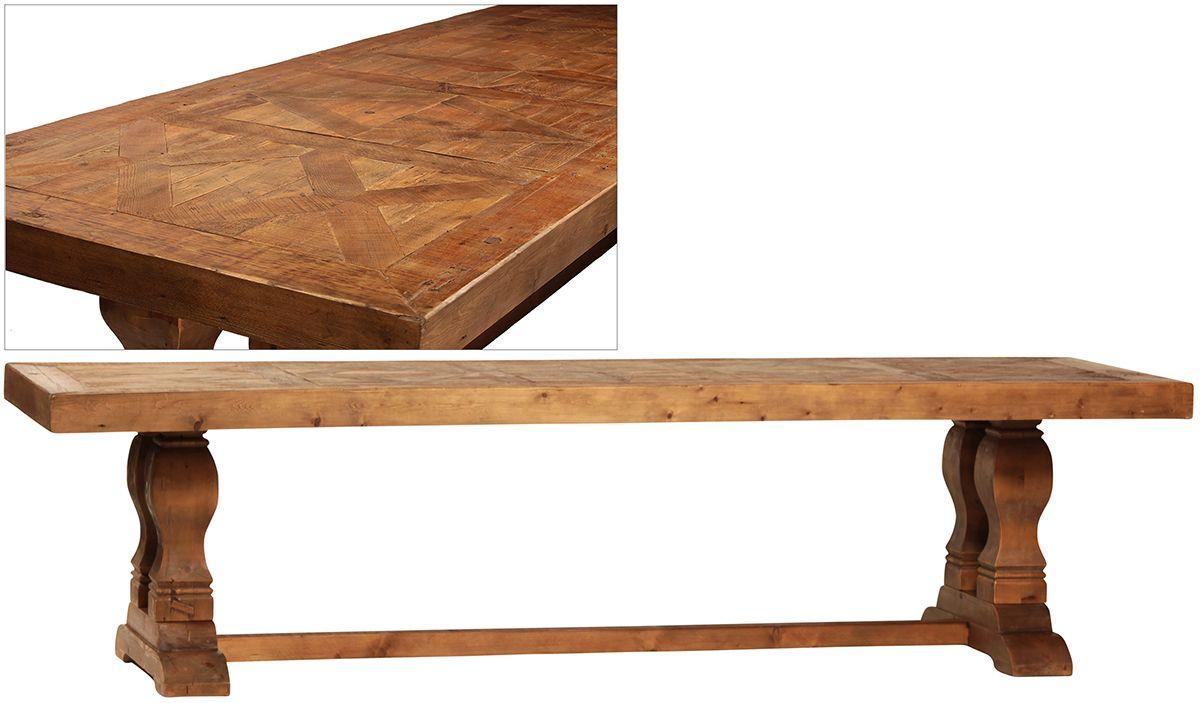 Dov5103 Regent Dining Table Dovetail W 118 D 39 H 31 Regarding Recent Finkelstein Pine Solid Wood Pedestal Dining Tables (Photo 5 of 15)