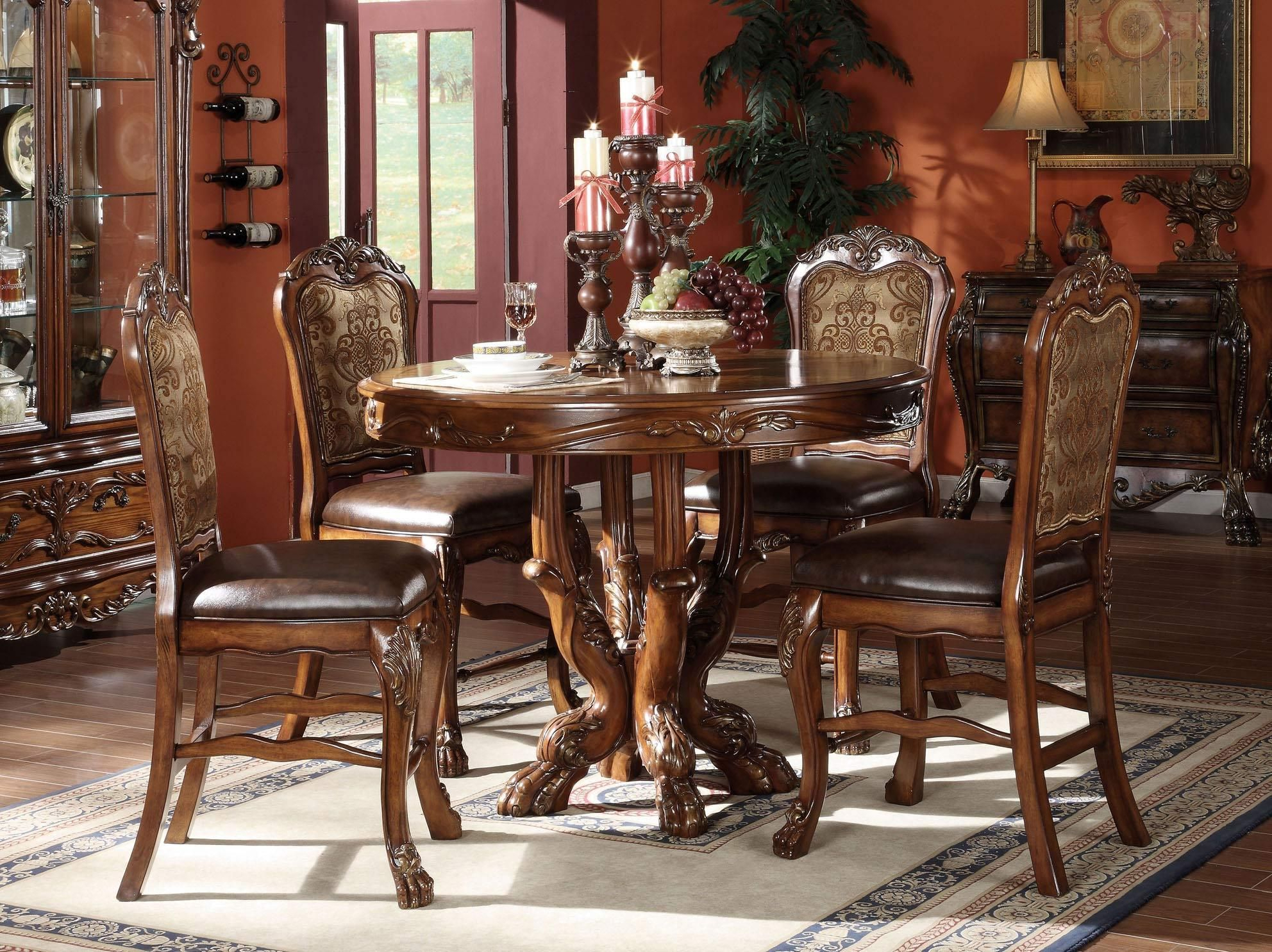 Dresden Counter Height Tableacme Furniture – Home Throughout Most Recent Barra Bar Height Pedestal Dining Tables (View 13 of 15)