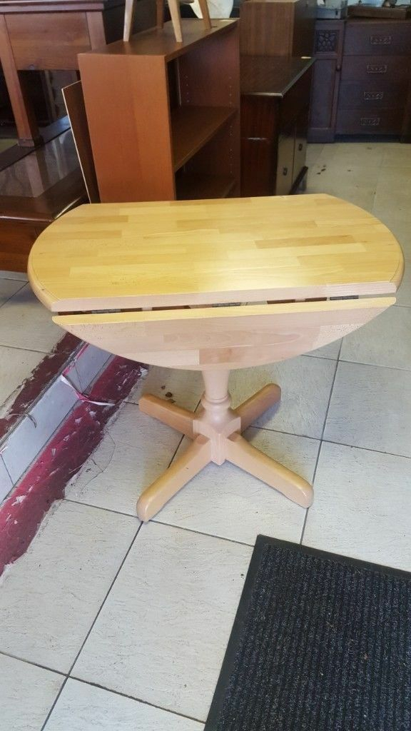 Drop Leaf Pine Pedestal Kitchen Dining Table In Great In Recent Finkelstein Pine Solid Wood Pedestal Dining Tables (Photo 1 of 15)