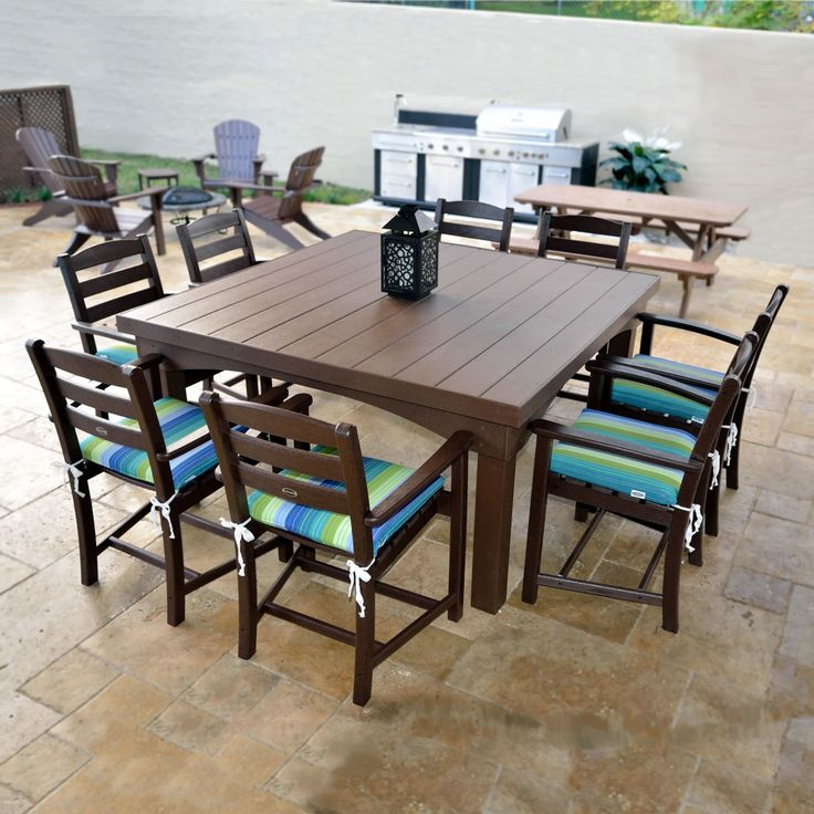 Eagle One Cape Cod Dining Table 60X60 | Outdoor Furniture Sets For Latest Adejah 35'' Dining Tables (Photo 7 of 15)