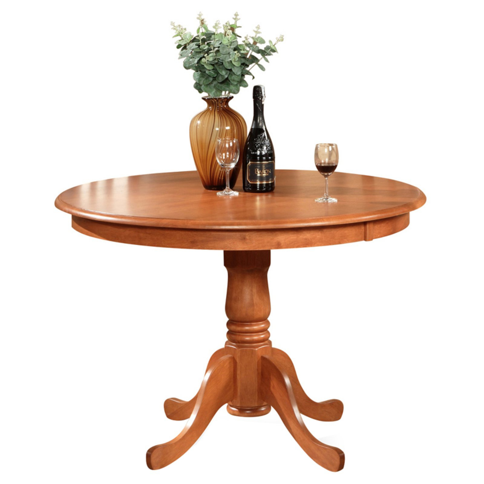 East West Furniture Hartland 42 Inch Round Pedestal Dining Pertaining To Current Darbonne 42'' Dining Tables (View 11 of 15)
