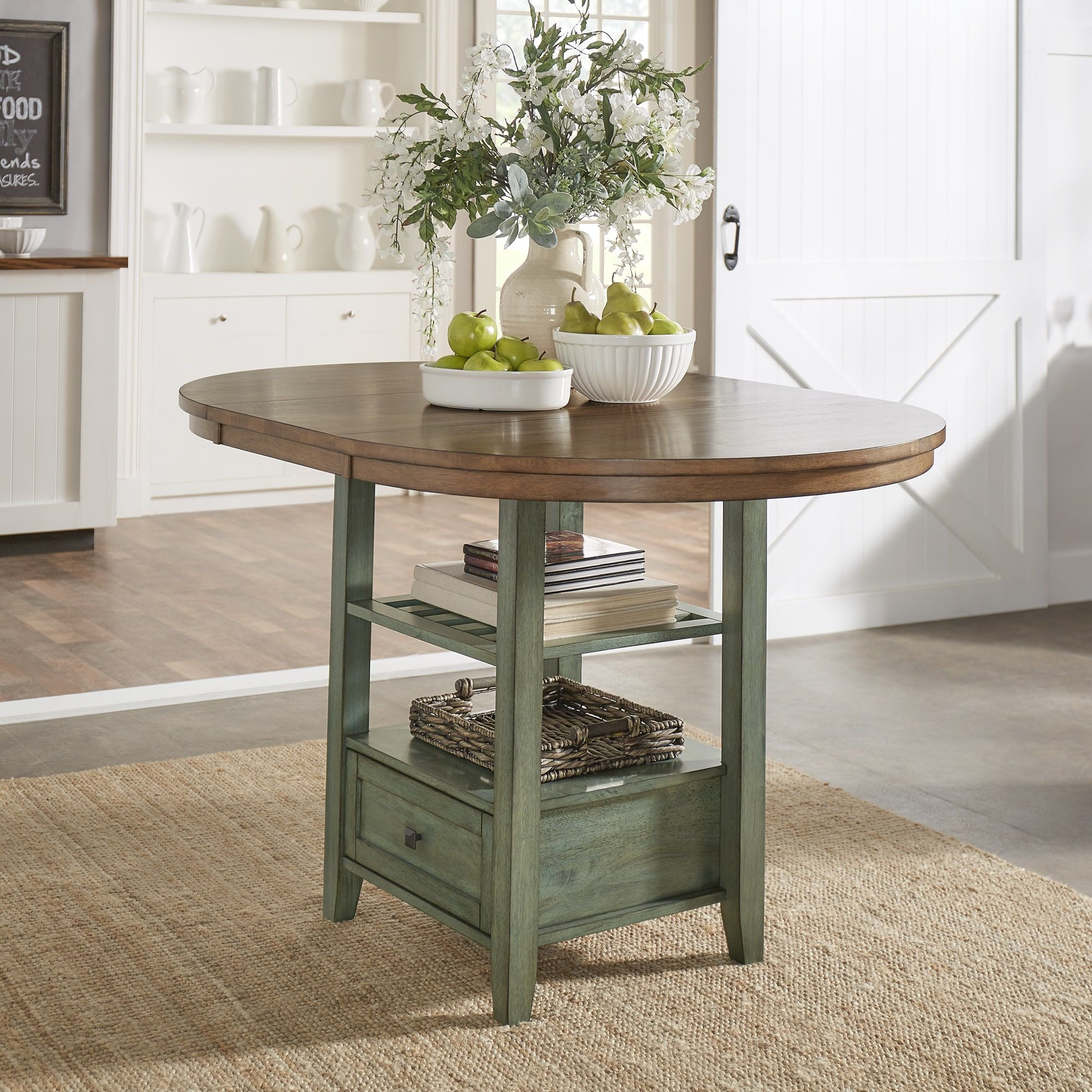 Eleanor Solid Wood Oval Extendable Counter Height Pedestal Regarding Recent Kirt Pedestal Dining Tables (View 13 of 15)