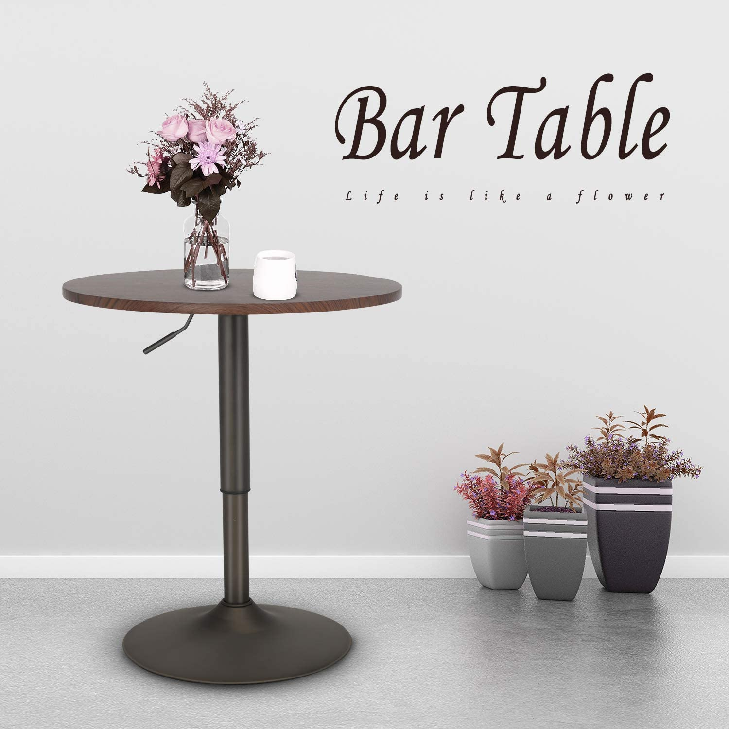 Elecwish 24 Inches Round Bar Table Adjustable Height And Inside 2017 3 Games Convertible 80 Inches Multi Game Tables (View 13 of 15)