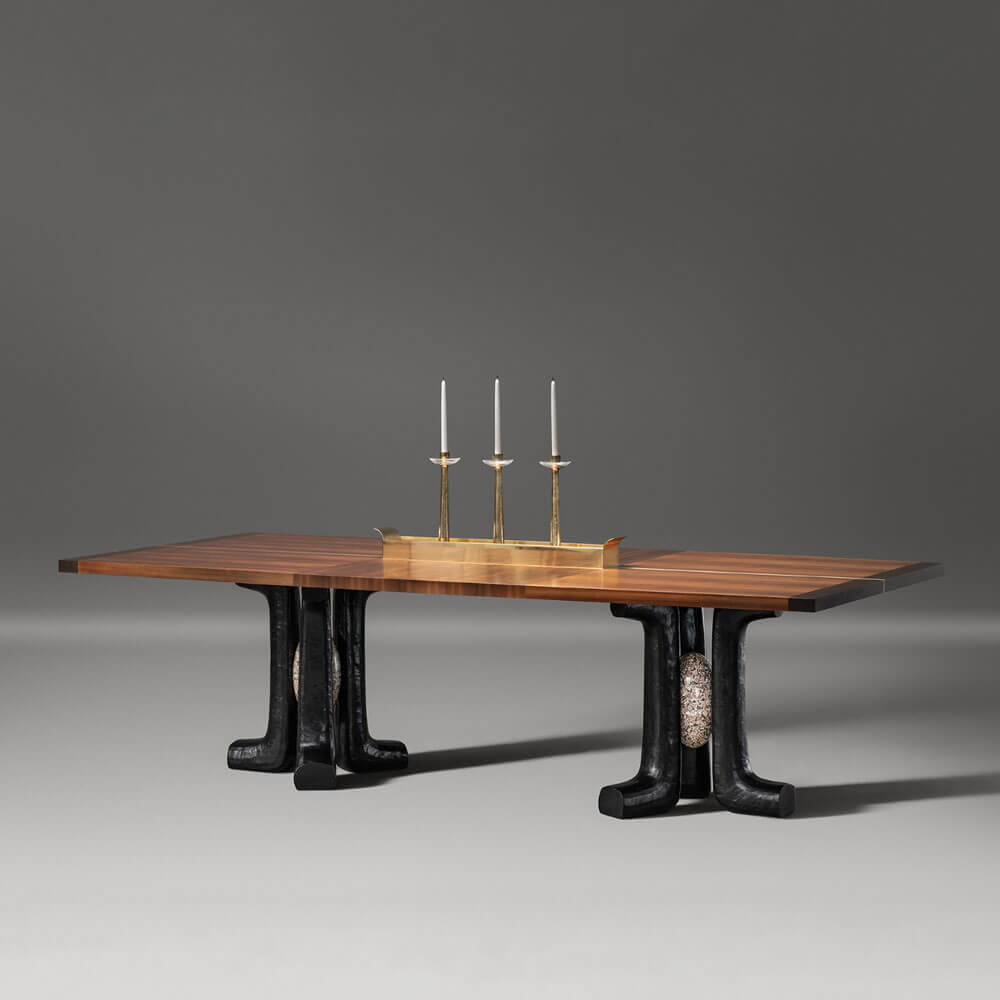 Êres Dining Table With Wooden Topalexander Lamont | H Within Best And Newest Corrigan Studio Fawridge Dining Tables (Photo 14 of 15)