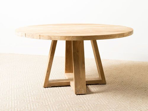 Ethan Dining Table In 2020 | 48 Round Dining Table, Wooden For Recent Monogram 48'' Solid Oak Pedestal Dining Tables (View 15 of 15)