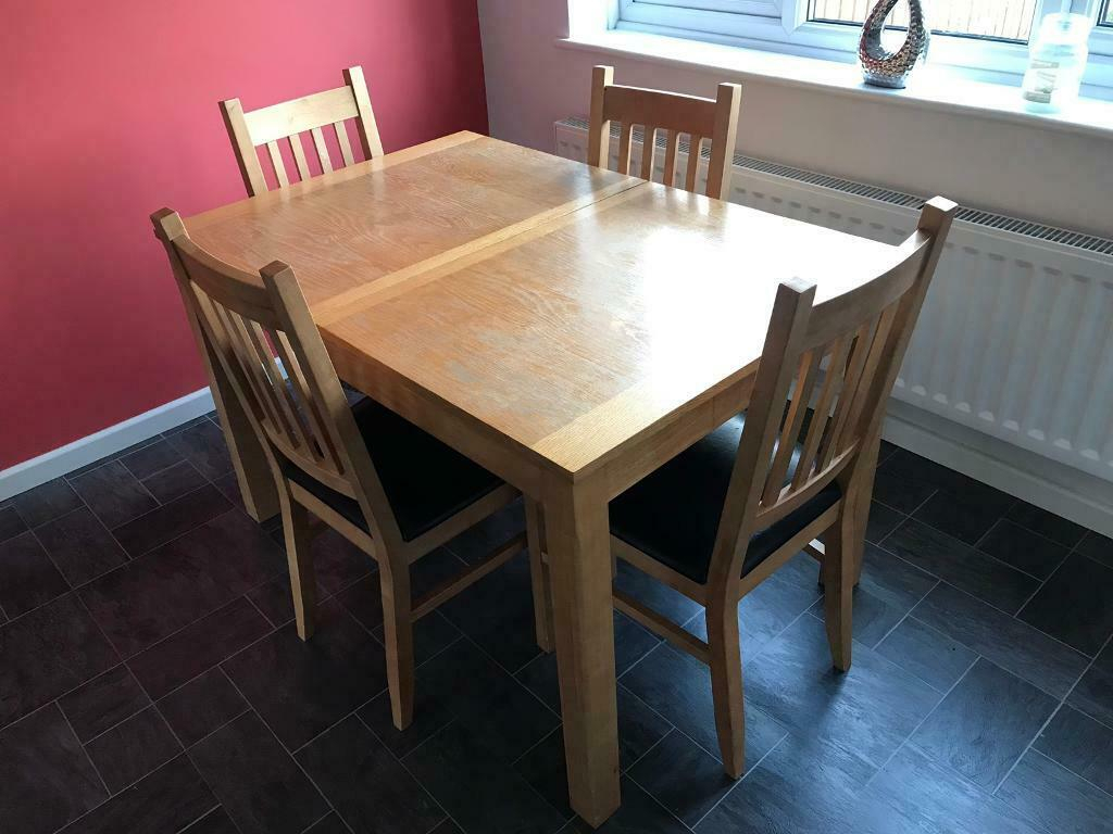 Extendable Dining Table And 4 Chairs | In Milton Keynes In Recent Milton Drop Leaf Dining Tables (View 3 of 15)